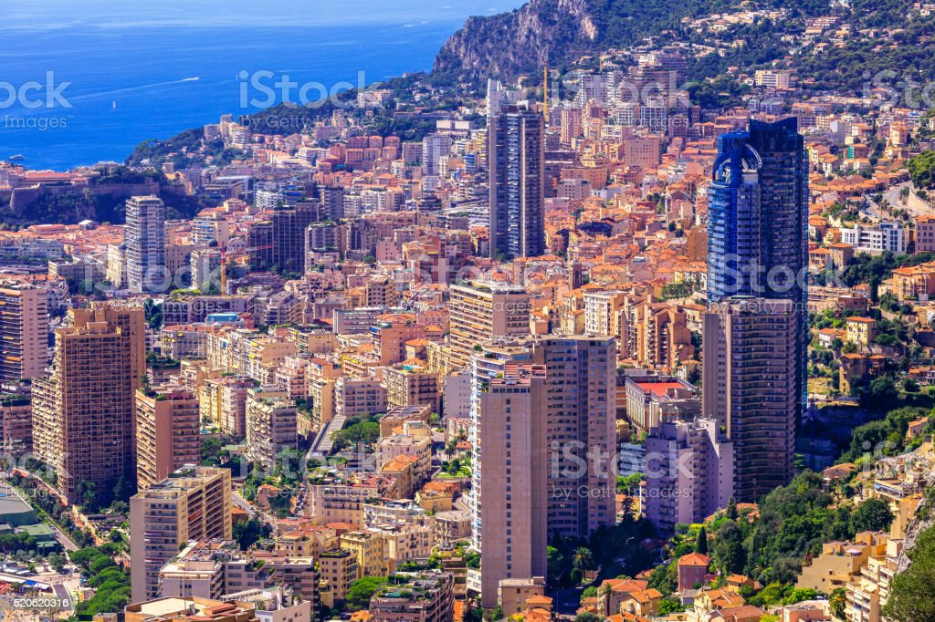 Monte Carlo in Summer, Monaco stock photo