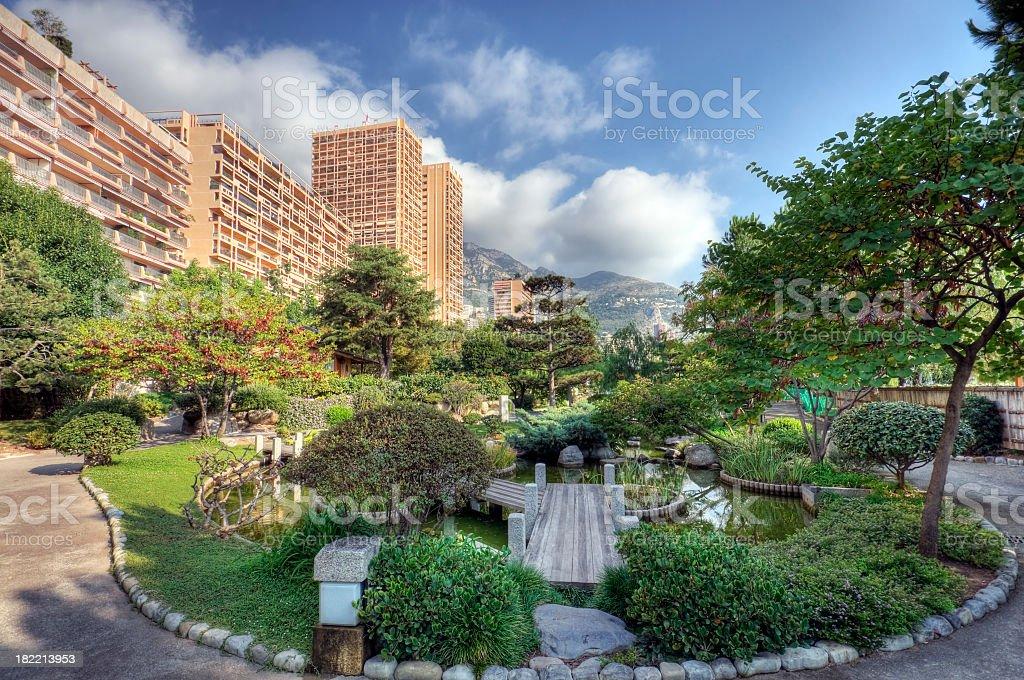 Monte Carlo Japanese Garden stock photo