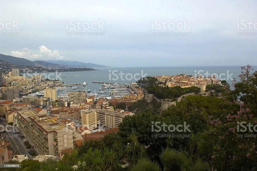 monte carlo landscape stock photo