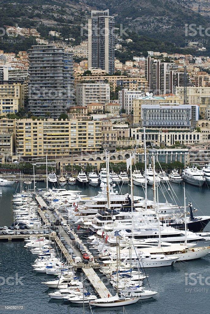 Monte Carlo Marina royalty-free stock photo