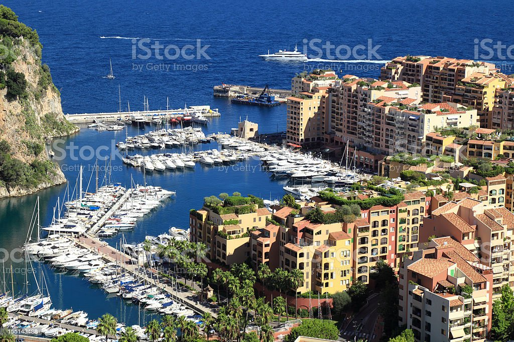 Monte Carlo panorama royalty-free stock photo