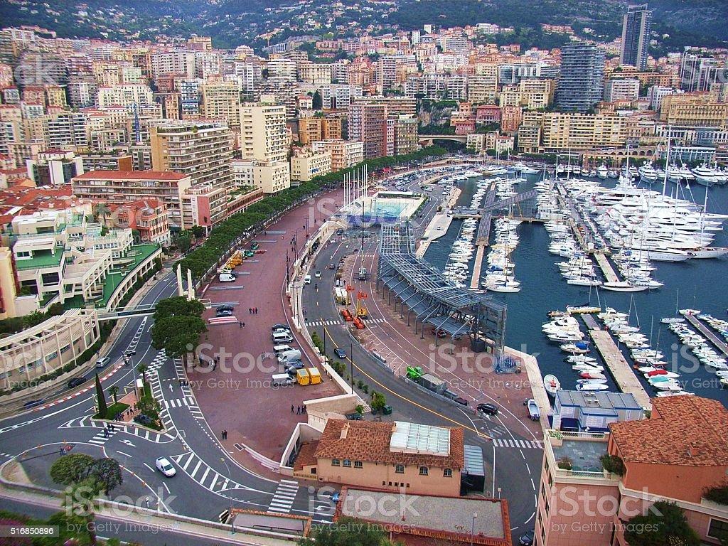 Montecarlo - Porto e lungomare stock photo