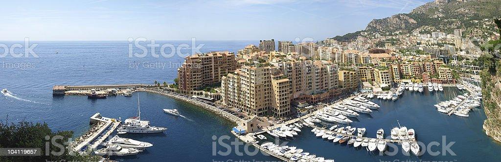 Monte Carlo port - panorama royalty-free stock photo
