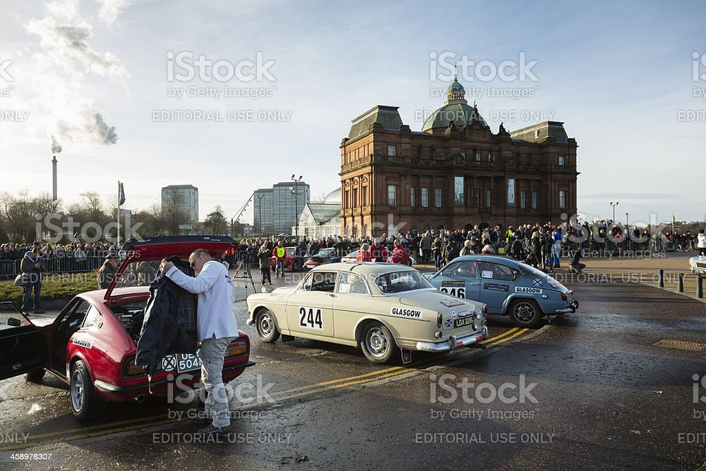 Monte Carlo Rally 2013 stock photo