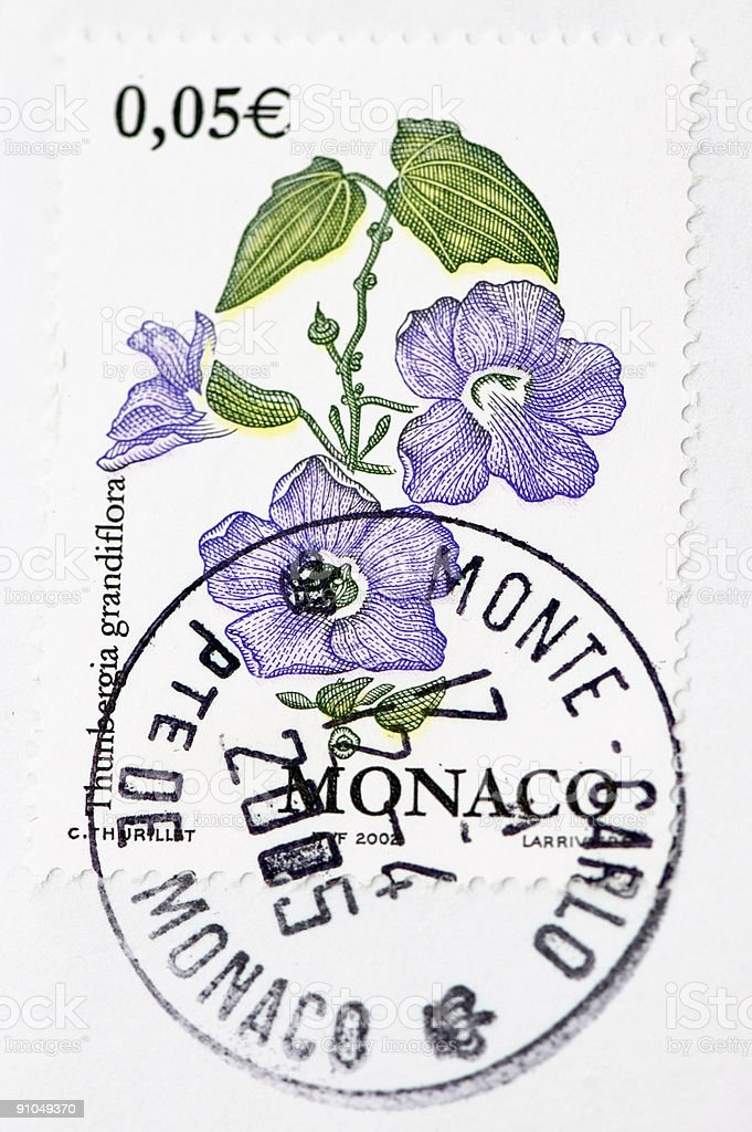 Monte Carlo Stamp royalty-free stock photo