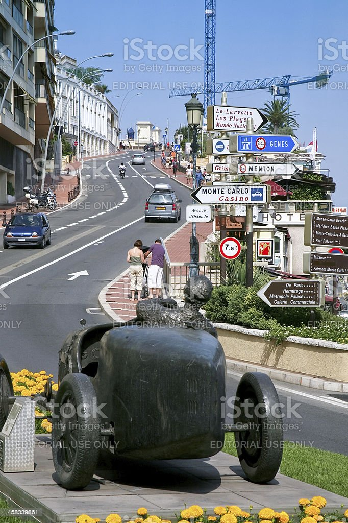 Monte Carlo street stock photo