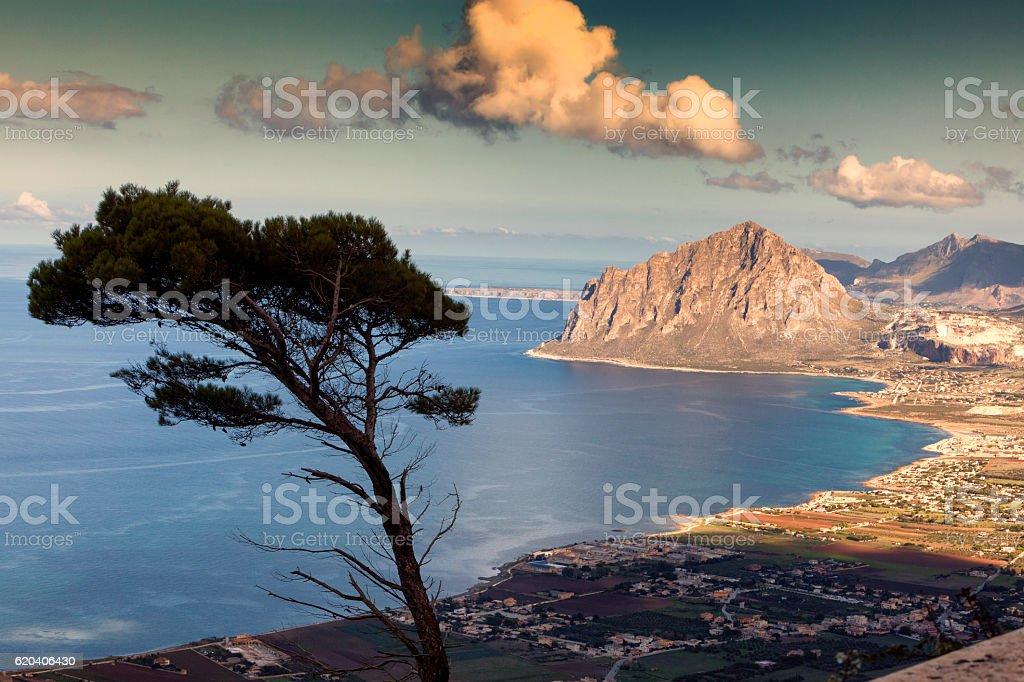 Monte Cofano,Sicily,Trapani stock photo