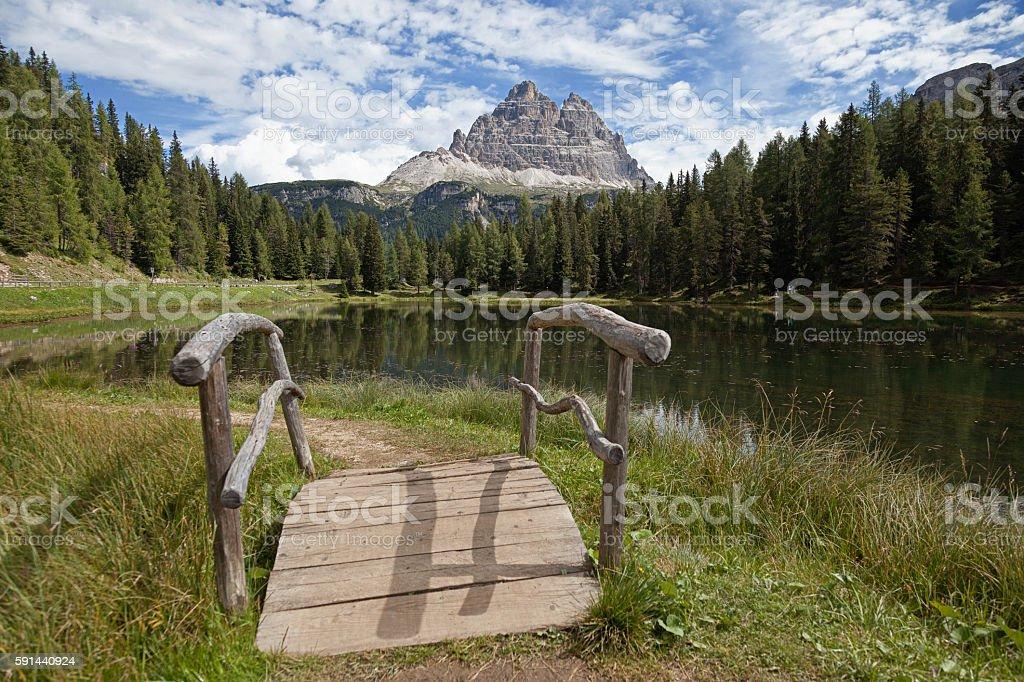 Monte Cristallo nelle Dolomiti di Sesto. Italia stock photo