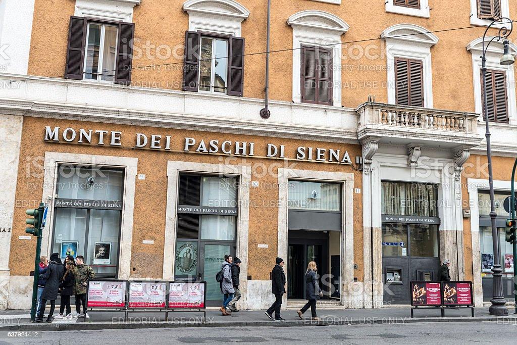 Monte dei Paschi di Siena bank branch in Rome stock photo