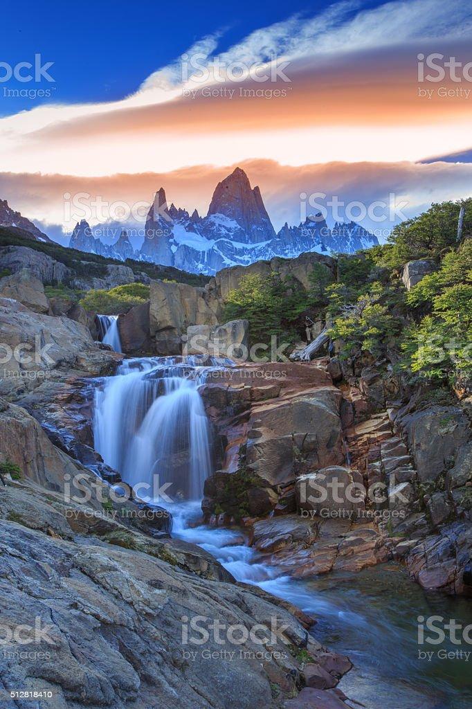 Monte Fitz Roy - Argentina stock photo