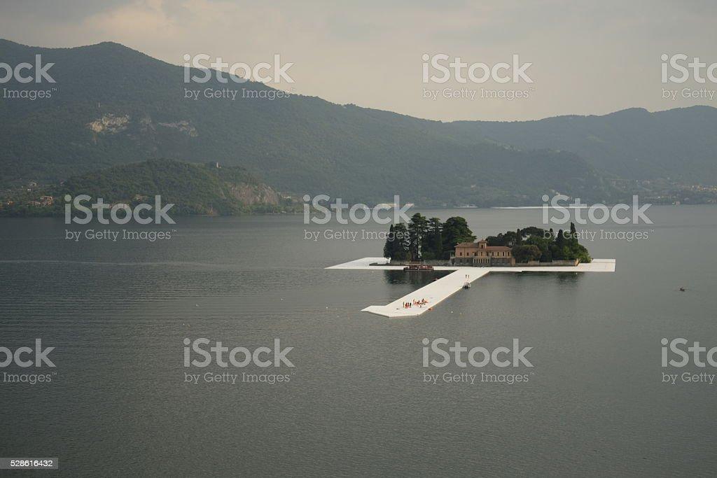 Monte Isola stock photo