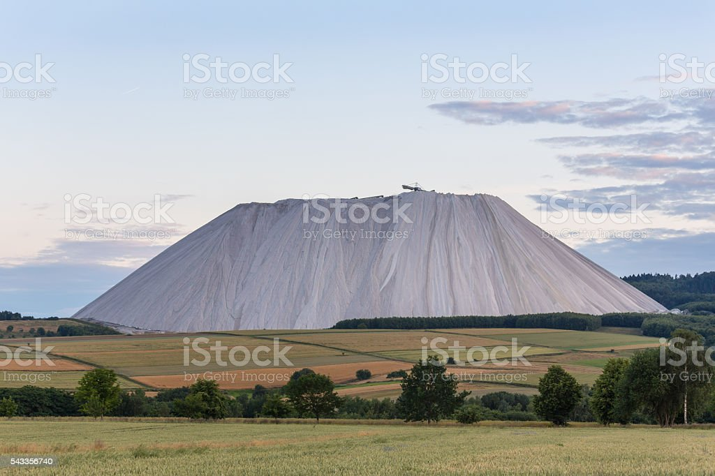 monte kali salt mountain heringen germany stock photo
