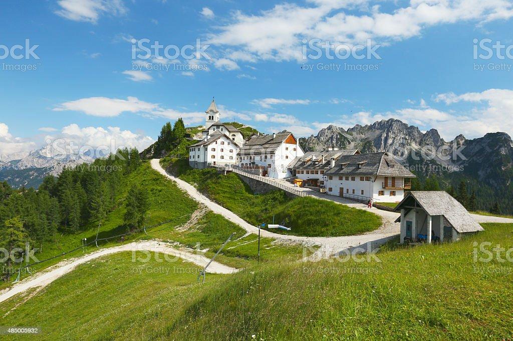 Monte Lussari stock photo