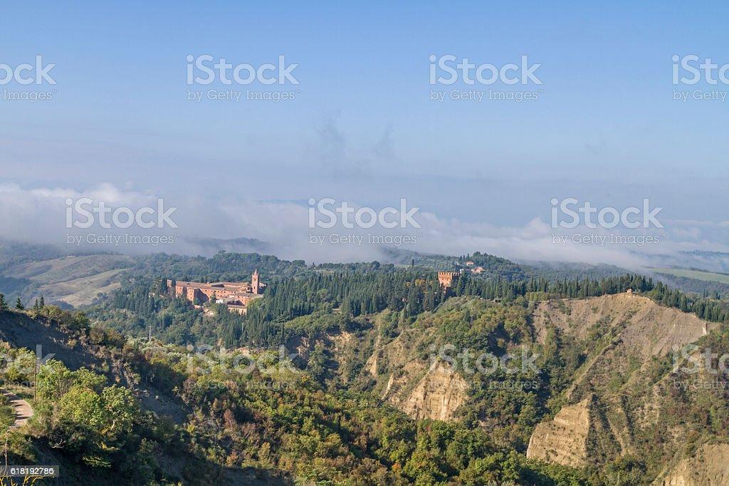 Monte Oliveto Maggiore stock photo