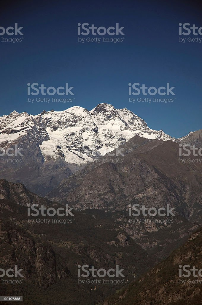 Monte Rosa and his valley royalty-free stock photo