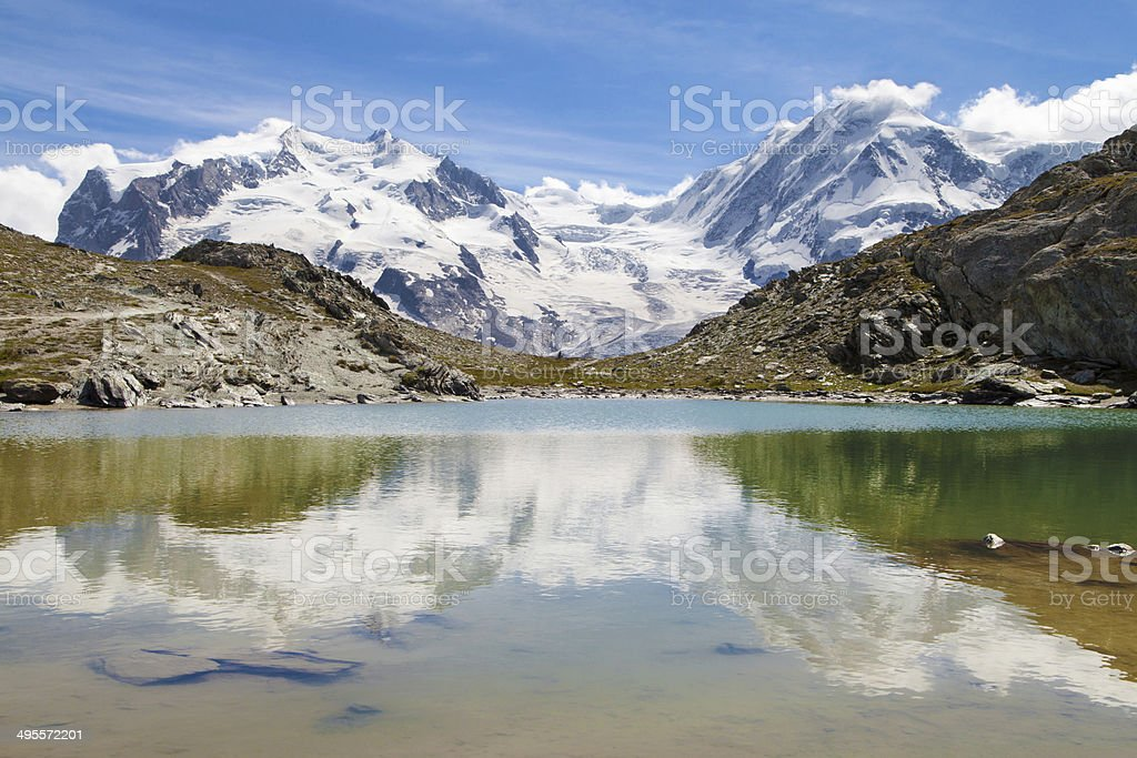 Monte Rosa and Lyskamm stock photo