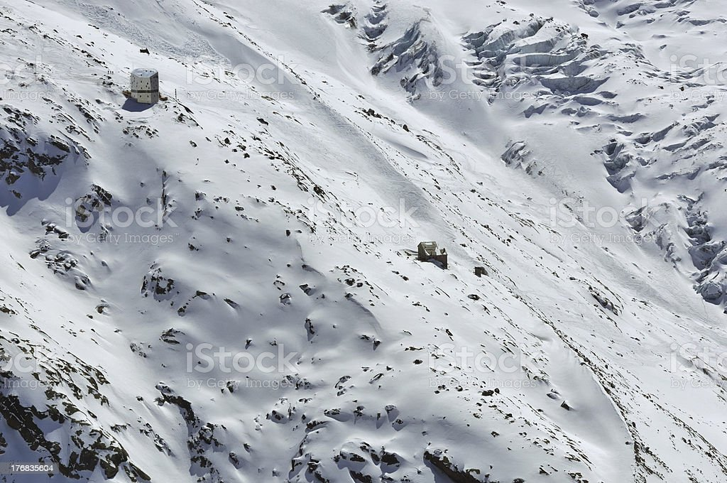 Monte Rosa Hut stock photo
