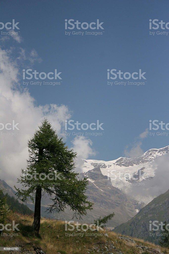 Monte Rosa, Italy stock photo