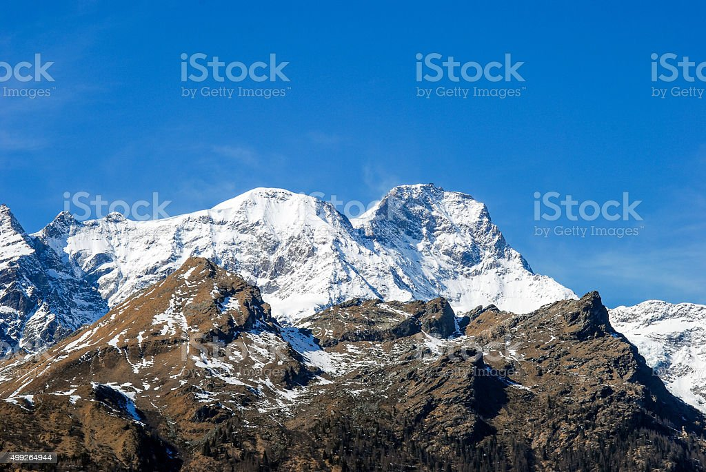 Monte Rosa (Italian side) stock photo