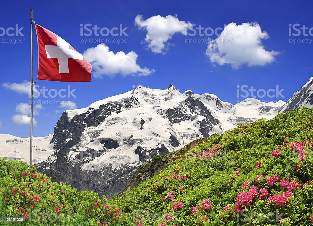 Monte Rosa - Swiss Alps stock photo