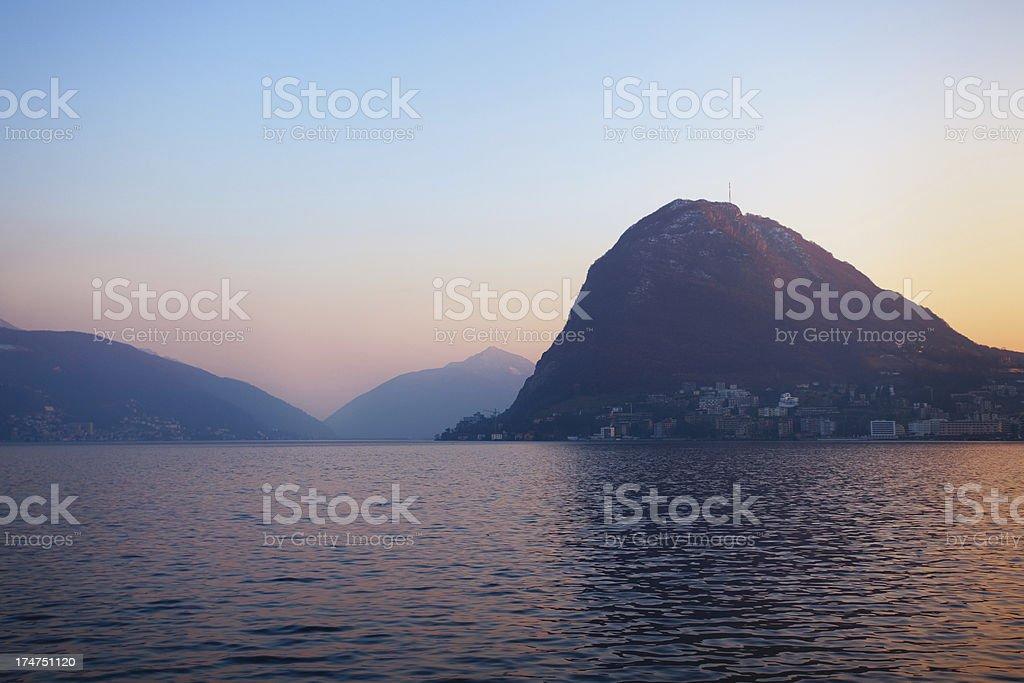 Monte San Salvatore stock photo