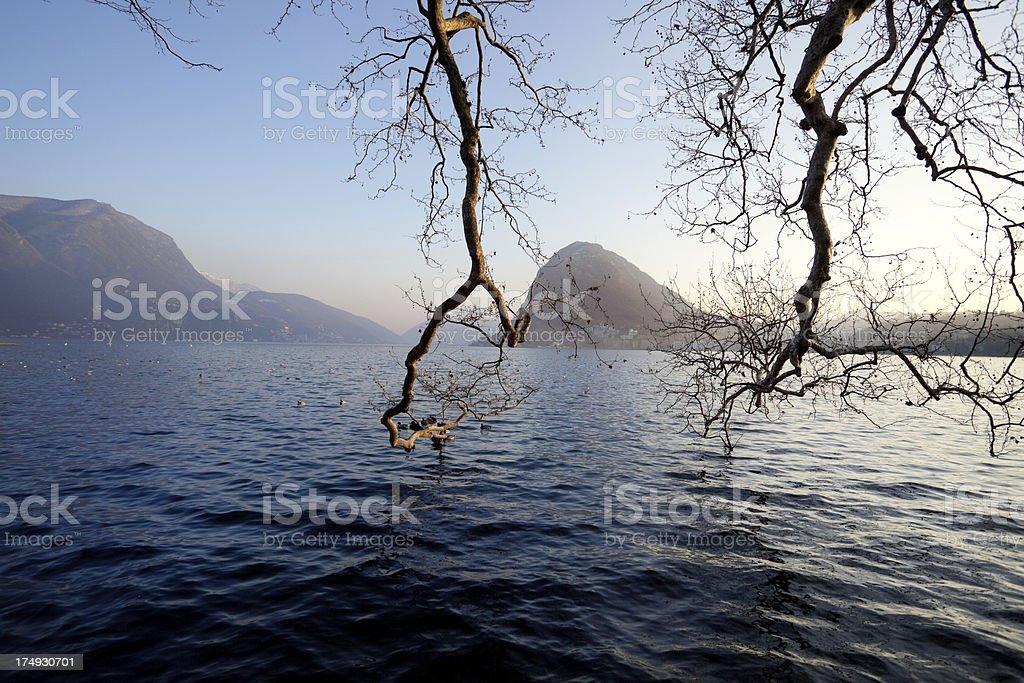 Monte San Salvatore royalty-free stock photo