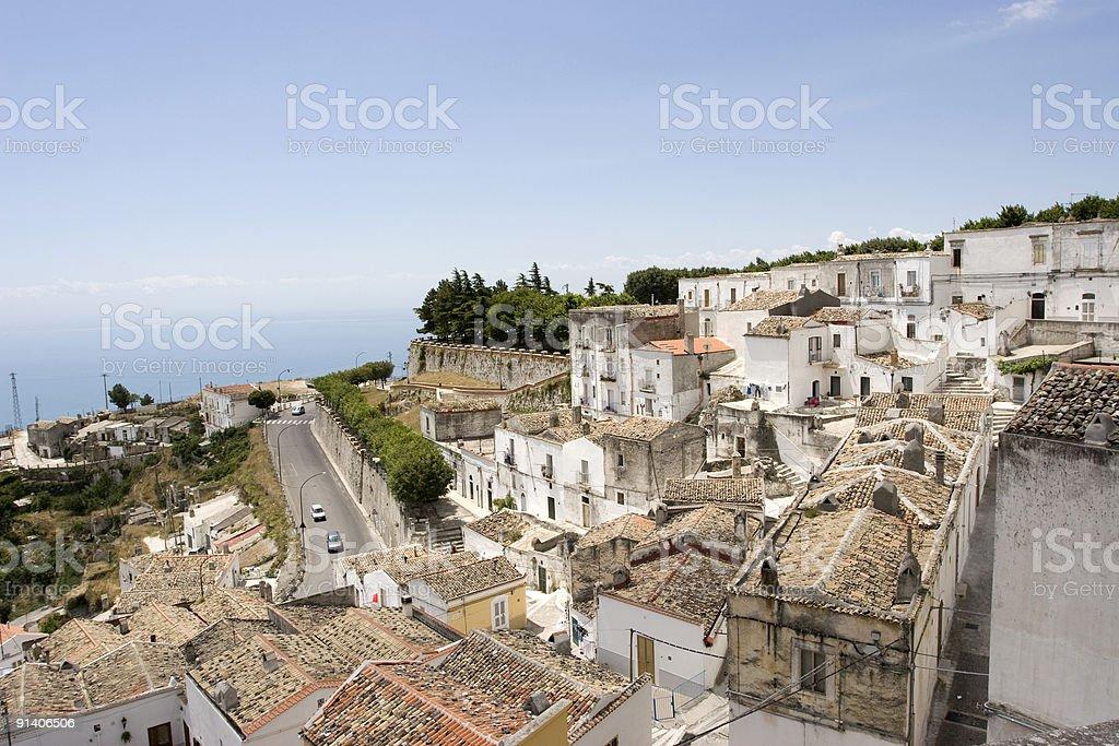 Monte Sant' Angelo stock photo