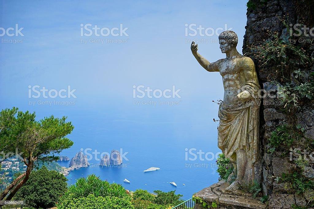 Monte Solaro, Capri stock photo