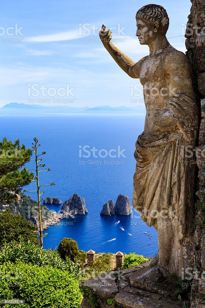Monte Solaro Top View stock photo