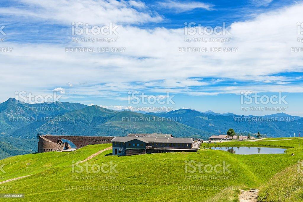 Monte Tamaro, Switzerland stock photo