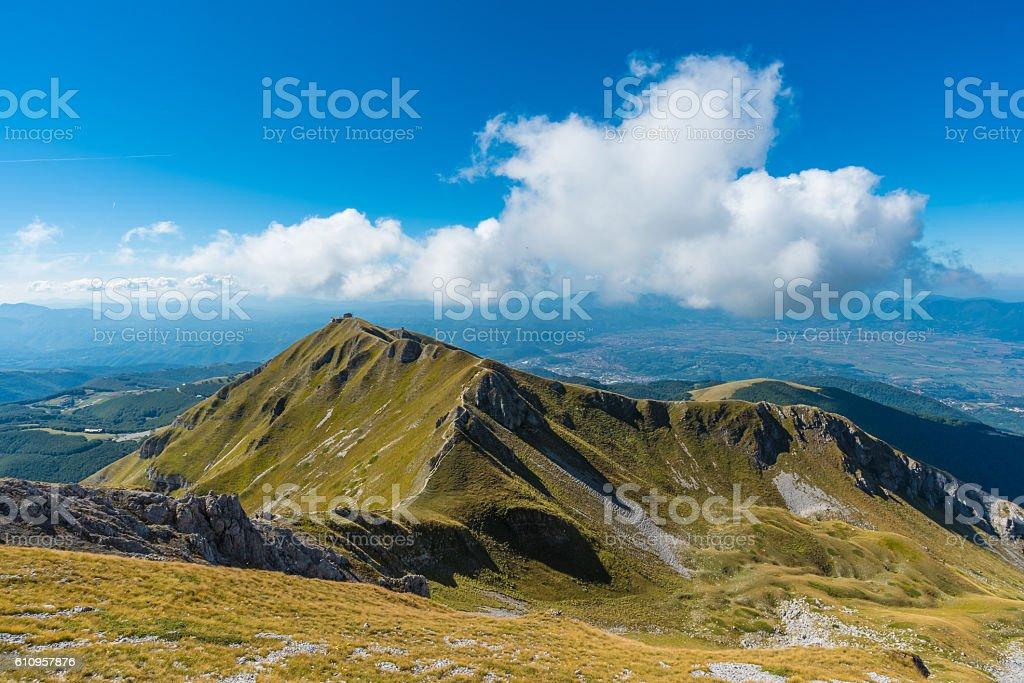 'Monte Terminillo' (Italy), the mountain of Rome stock photo