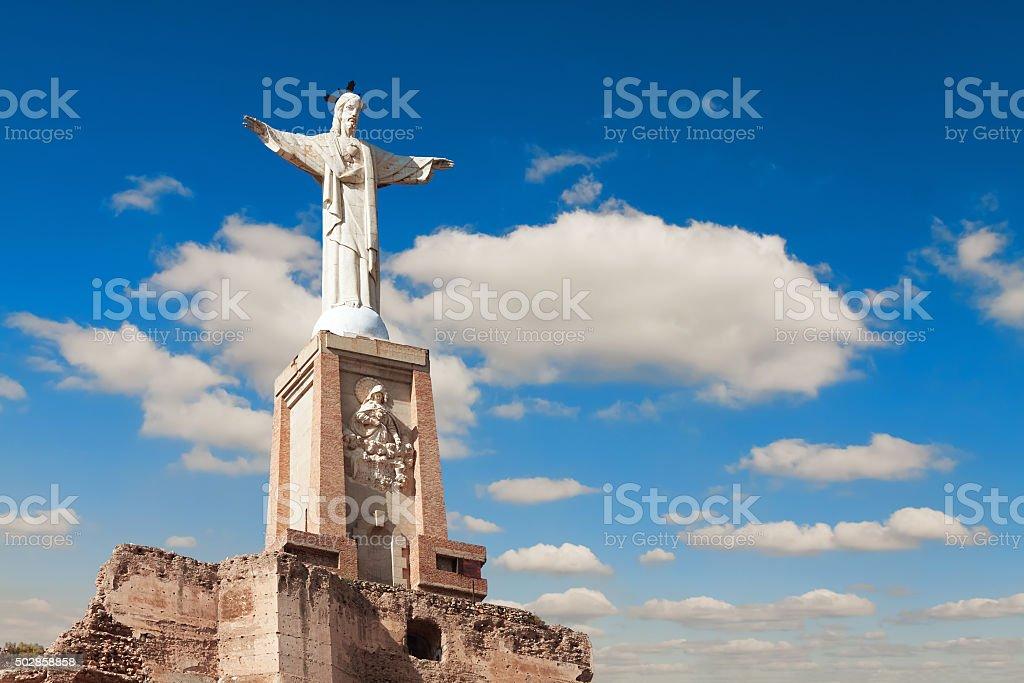 Monteagudo, Statue of Jesus near Murcia, Spain stock photo