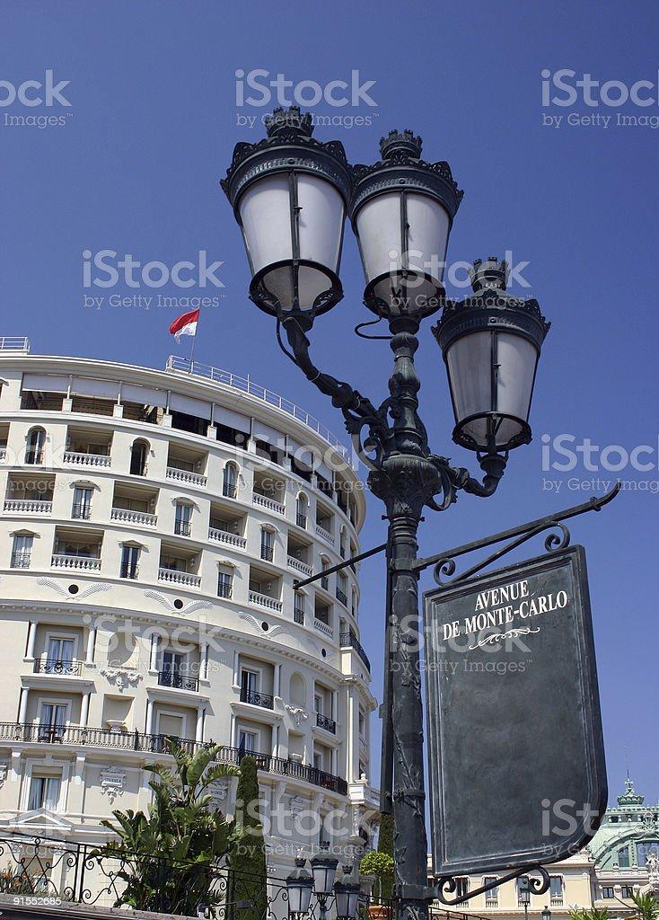 Monte-Carlo sign stock photo