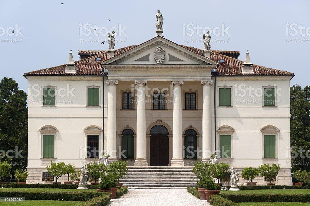 Montecchio Maggiore (Vicenza, Veneto, Italy) - Villa Cordellina Lombardi, facade royalty-free stock photo