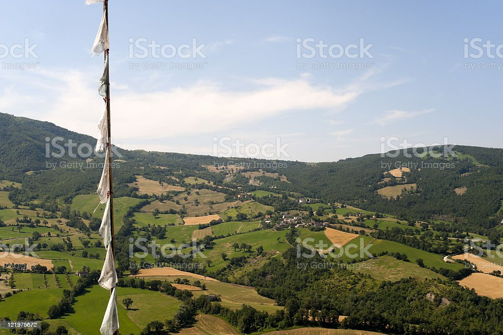 Montefeltro (Marches, Italy), landscape from Pennabilli (Urbino) royalty-free stock photo