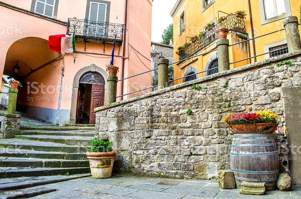 Montefiascone village steps alley - Lazio - Viterbo -  discover stock photo