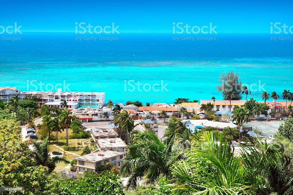 Montego Bay in Jamaica stock photo