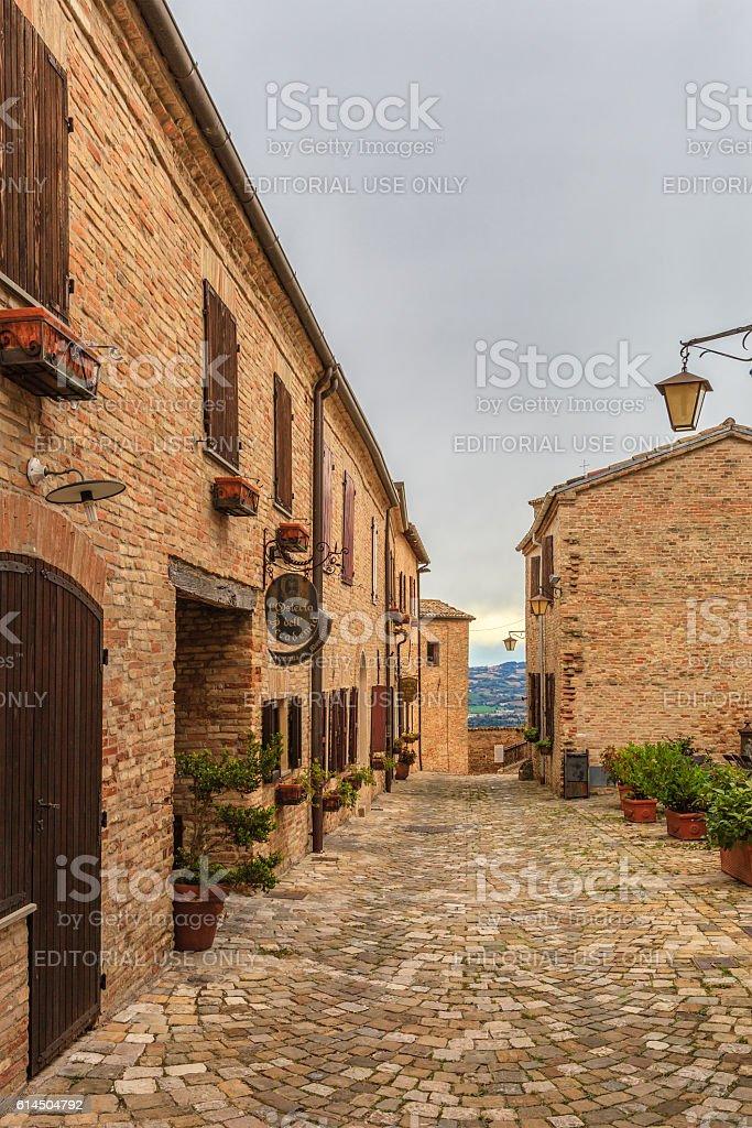 Montegridolfo, Italy stock photo