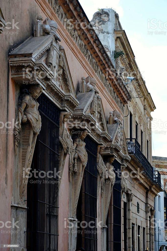 Casa de Montejo windows stock photo