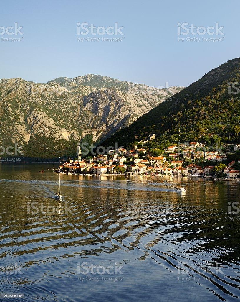 Montenegró sun rise stock photo