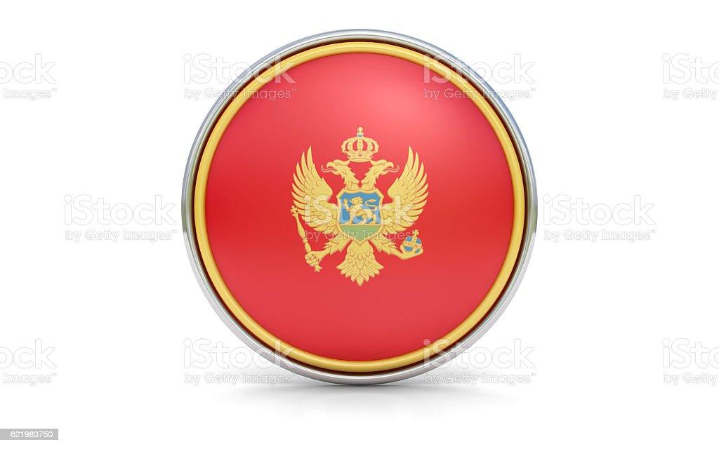 Montenegrian flag stock photo