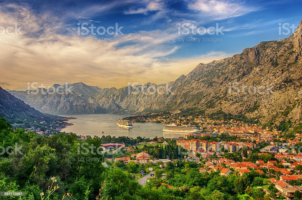 Montenegro. Bay of Kotor stock photo
