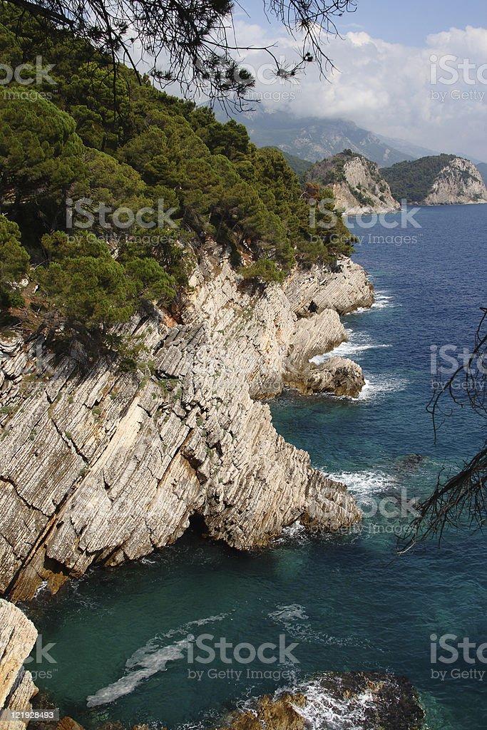 Montenegro coastline stock photo