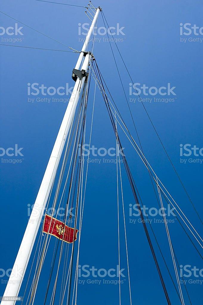 Bandiera del Montenegro foto stock royalty-free