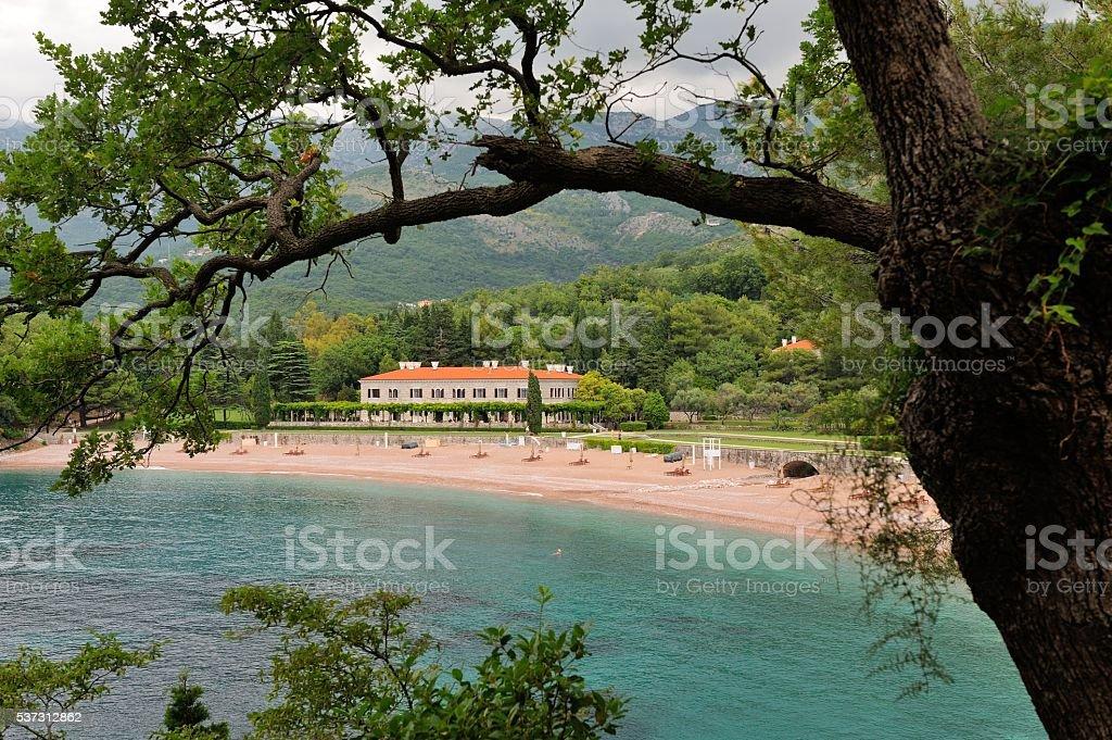 Montenegro. Milocer. stock photo