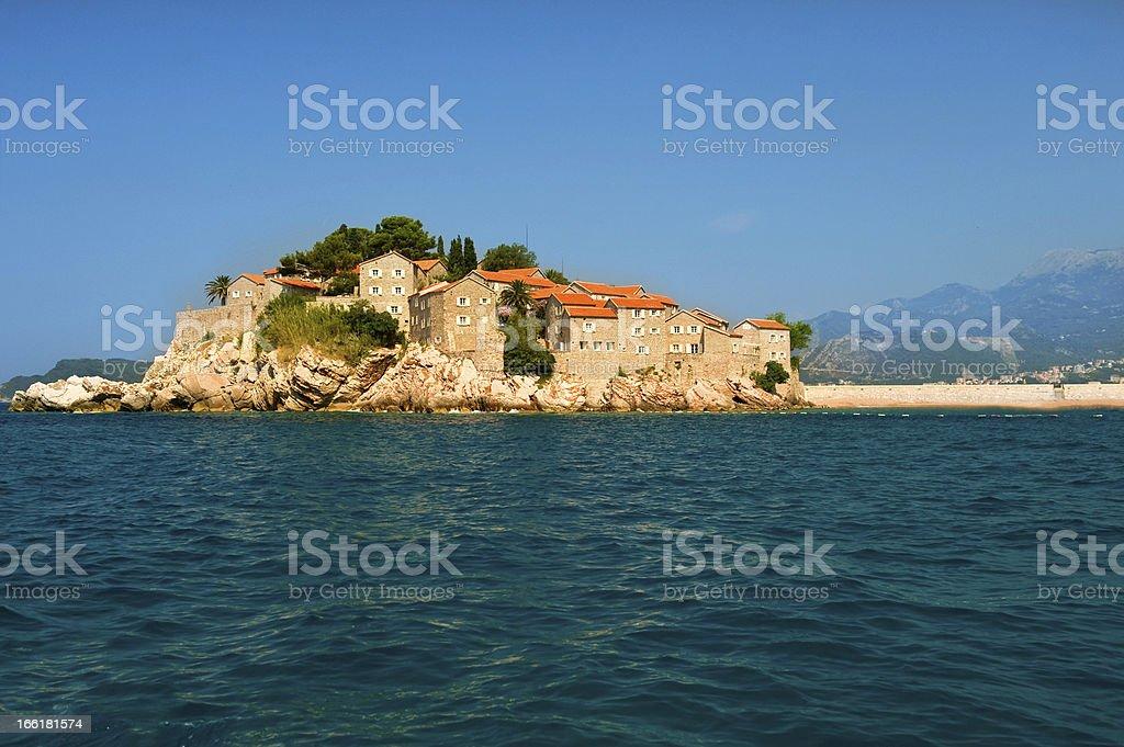 Montenegro Resort Island  Sveti Stefan royalty-free stock photo