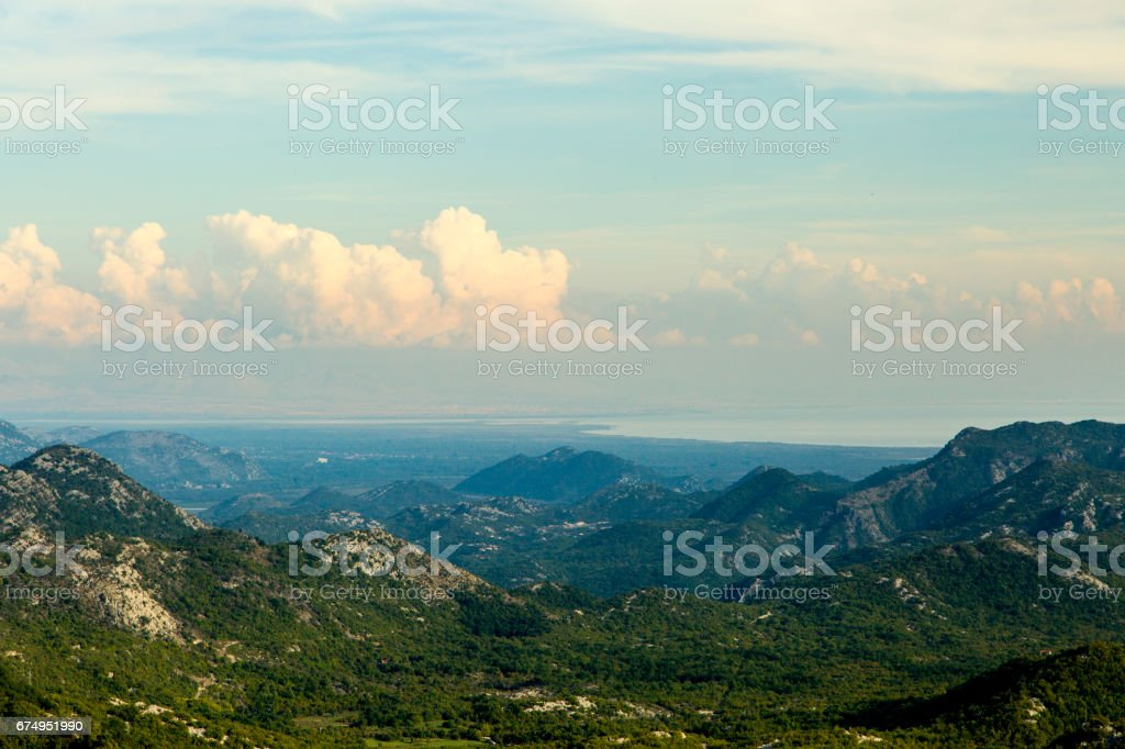 Montenegro. Skadar Lake. It is one of the most beautiful lakes in Europe. stock photo