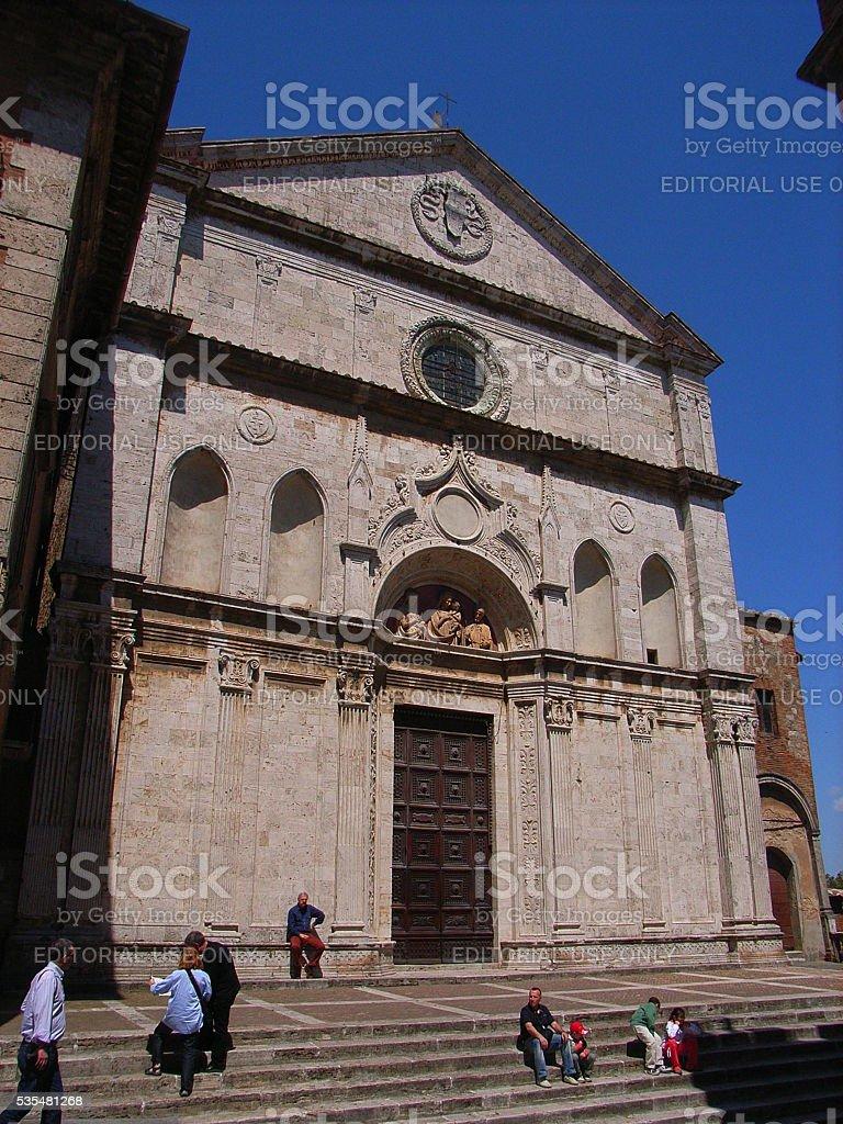 Montepulciano - Chiesa di Sant'Agostino stock photo