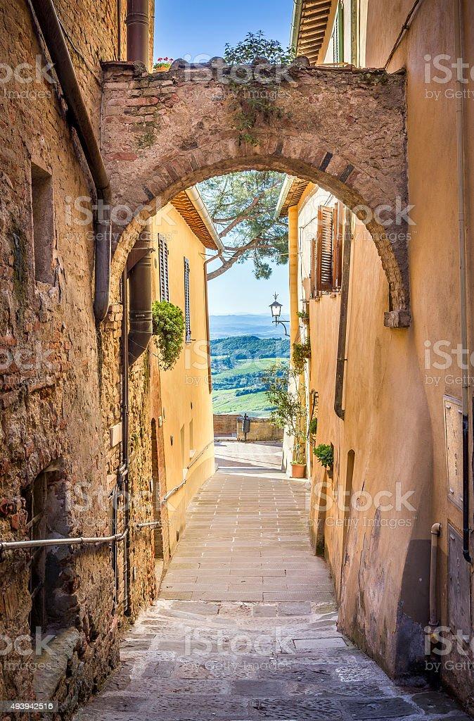 Montepulciano in Tuscany stock photo