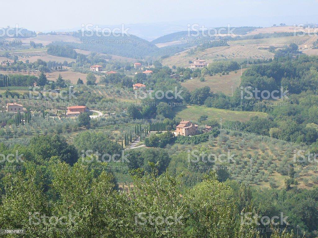 Montepulciano landscape royalty-free stock photo
